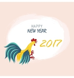 Year red rooster on the Chinese calendar vector image