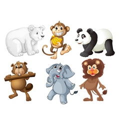 Animals in the woods vector image vector image