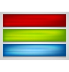 Bright smooth gradient banners vector image vector image