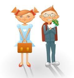 Cartoon school kids vector image