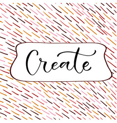 create handwritten decoration greeting card vector image vector image