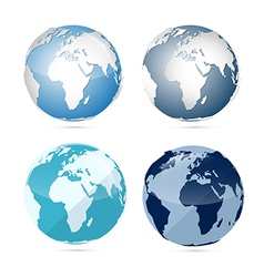 Earth World Globe Map Icons vector image vector image