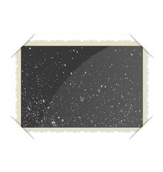 Retro Photo Frame On White Background vector image