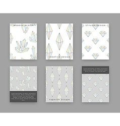 Set templates for printing with crystals and vector image
