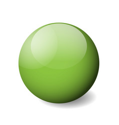green glossy sphere ball or orb 3d object vector image vector image