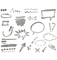 marker elements vol 1 vector image vector image