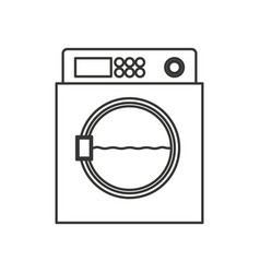 monochrome silhouette of wash machine vector image vector image