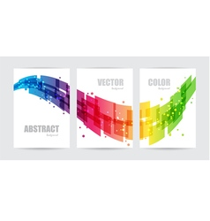 Abstract technology set business background vector image vector image