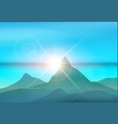 morning island landscape vector image