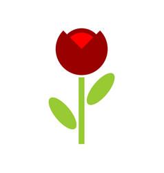 poppy red flower isolated flowers emblem logo vector image vector image