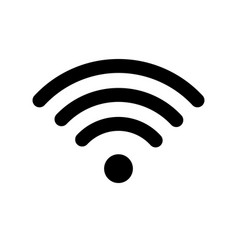 wifi technology symbol wireless and wifi icon vector image