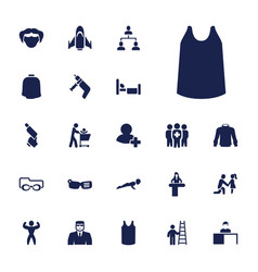 22 man icons vector