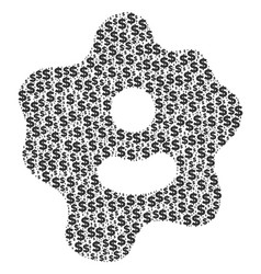 Amoeba collage of dollar and dots vector