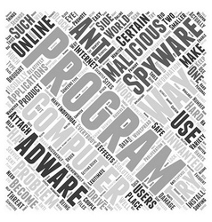 Anti spyware adware Word Cloud Concept vector