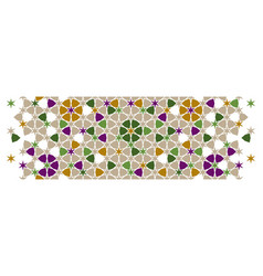 Arabic islamic green border mosaic seamless vector