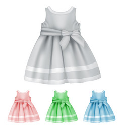 baby dress blank template vector image