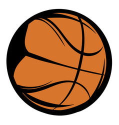 basketball icon cartoon vector image