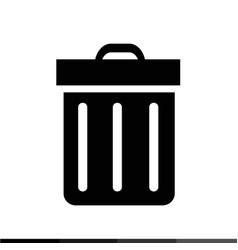 bin icon design vector image
