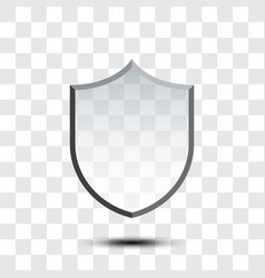blank protection shield icon vector image