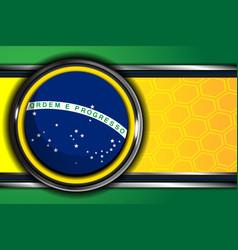 Brazil flag backgrounds design vector