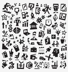 Business symbols - icon set design vector