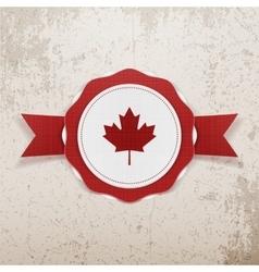 Canada patriotic Badge with Ribbon vector image