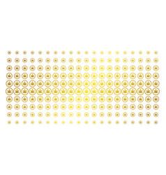 Cannabis golden halftone pattern vector