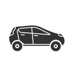 car side view glyph icon vector image