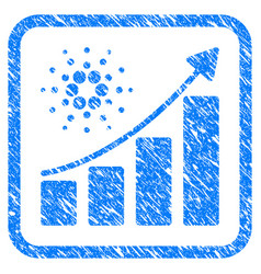 cardano growth chart framed stamp vector image