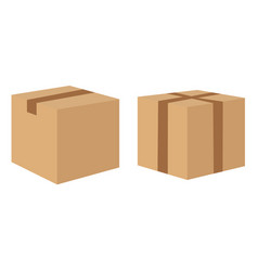 cardboard delivery boxes collection isolated on vector image