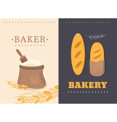 Cards shop bakery vector