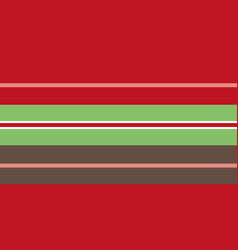classic red green brown striped seamless vector image