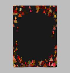 Color abstract random seasonal pine tree card vector