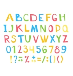 Colorful children ABC for your design vector