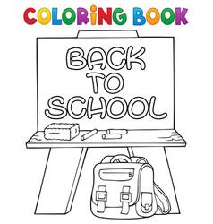 Coloring book schoolboard topic 2 vector