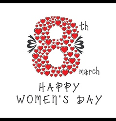 creative happy womens day greeting card design vector image