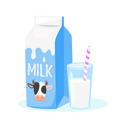 dairy products milk packing vector image