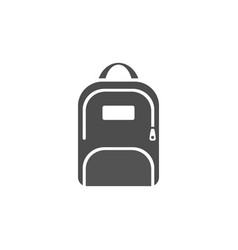 dark backpack icon on a white background vector image