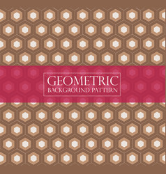 Editable abstract geometric pattern - hexagonal ve vector