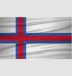 Faeroe islands flag flag of faeroe islands vector