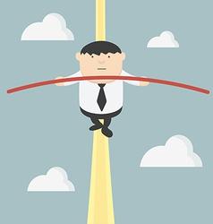Fat businessman acrobats vector