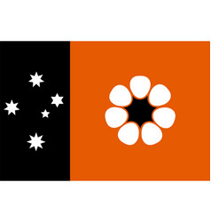 Flag of northern territory is federal australian vector