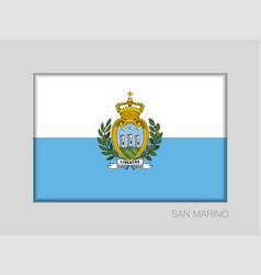 Flag of san marino national ensign aspect ratio 2 vector