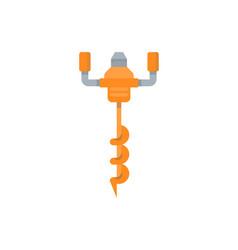 Flat a auger vector