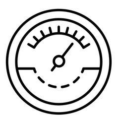 Fuel tachometer icon outline style vector