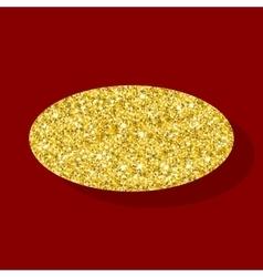 Golden figure ellipse vector