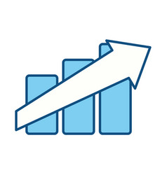 Growing arrow business vector
