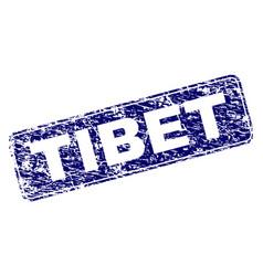 Grunge tibet framed rounded rectangle stamp vector