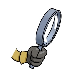 Hand holding a loupe 2 vector