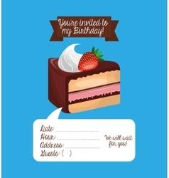Happy birtday invitation card vector